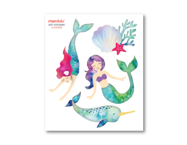 Mermaid and Narwhal - Gift Bag Stickers