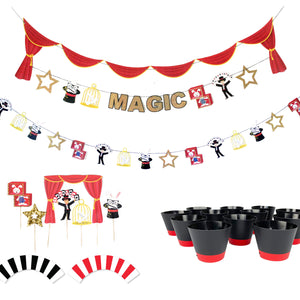 Magic Show - Birthday Party Decoration Kit - 12 guests