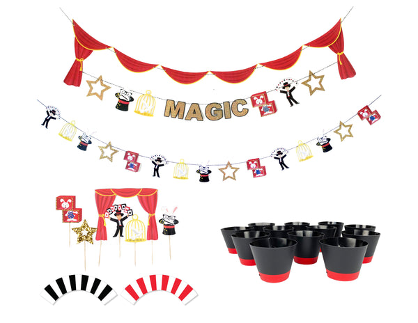 Magic Show - Birthday Party Decoration Kit (12 guests)