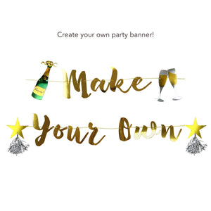 Gold Make Your Own Banner and Cheers Charms Bundle