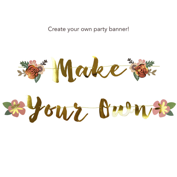 Make Your Own Banner and Flower Charms Bundle