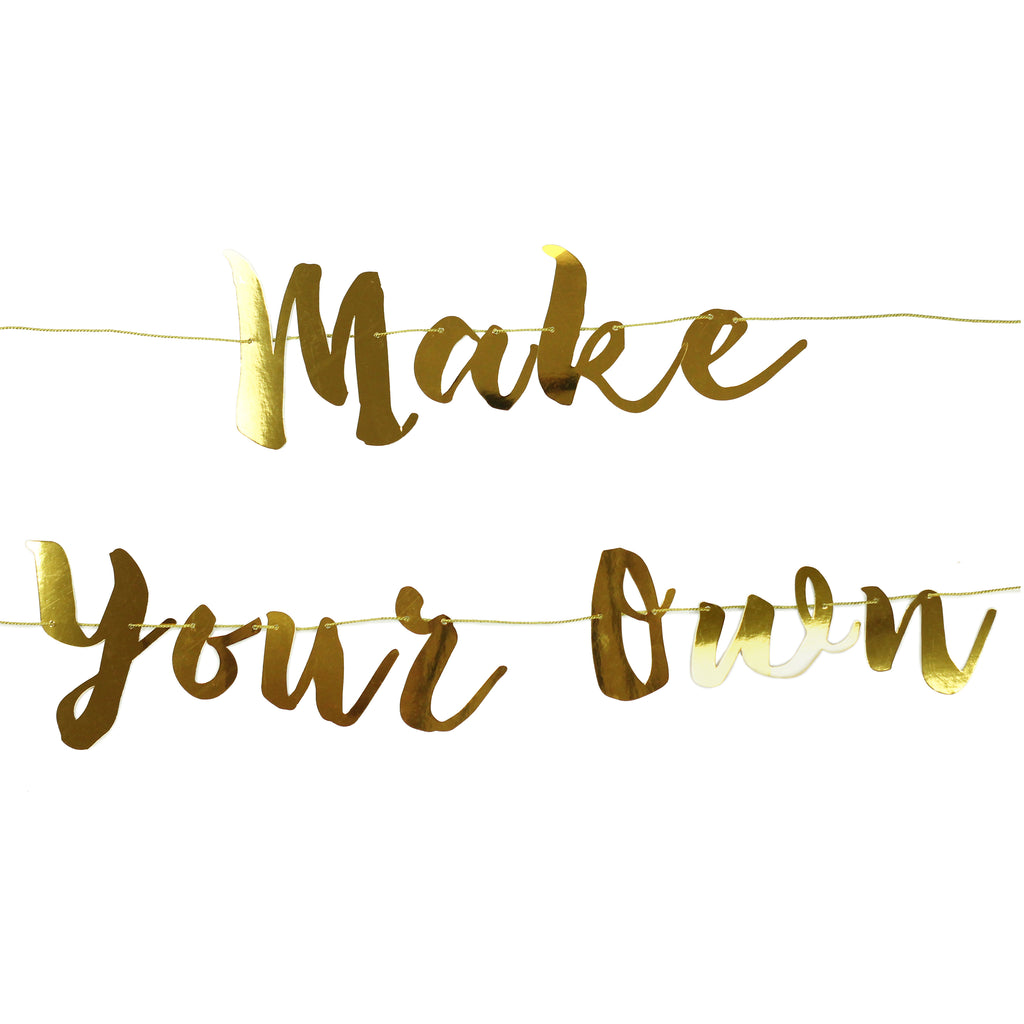 Gold make your own banner