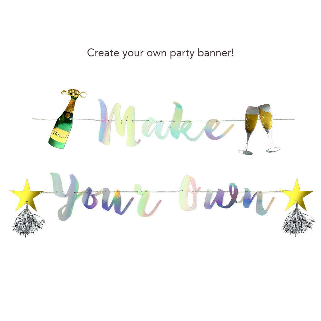 Iridescent Make Your Own Banner and Cheers Charms Bundle