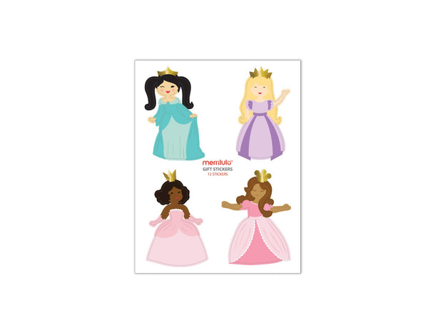 Pretty Princess - Gift Bag Stickers, 12 ct