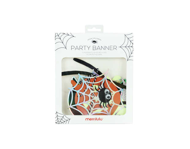 Spooky Halloween - Party Banner (glows in the dark) 1