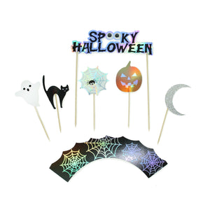 Spooky Halloween - Cupcake Toppers & Wrappers, 12 ct