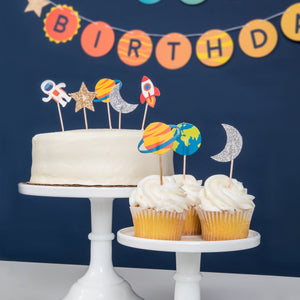 Space Cupcake Toppers, 12 ct