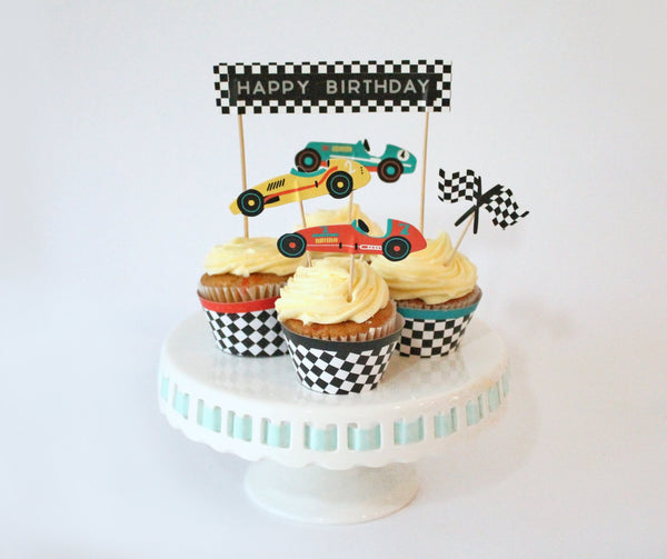 Race Car Cupcake Toppers, 11 ct