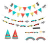 vintage race car party - decoration set