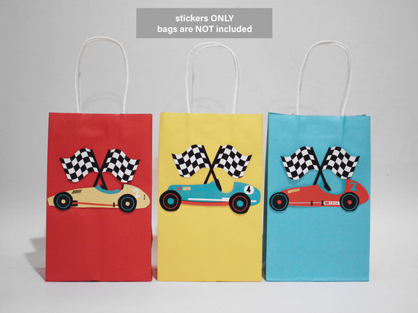 race car gift bags