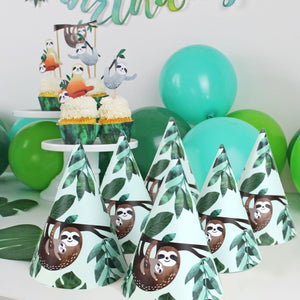 Sloth Party Hats, 12 ct