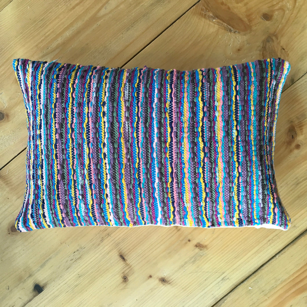 Striped Upcycled V Cushion