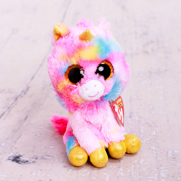 Beanie Boo Unicorn Pink & Yellow