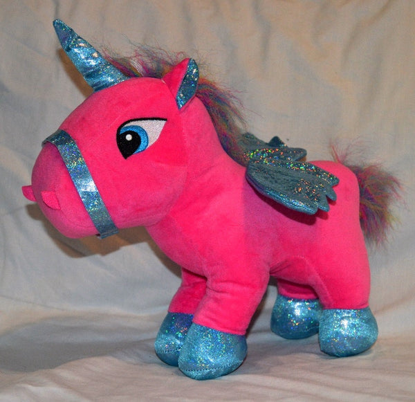 Dark Pink Blue Glitter Unicorn