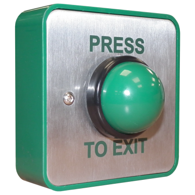 Stainless Steel Press to Exit Button - EBGBWC02/PTE