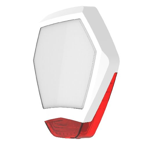 Texecom Odyssey X3 Bell Cover White & Red WDB-0002