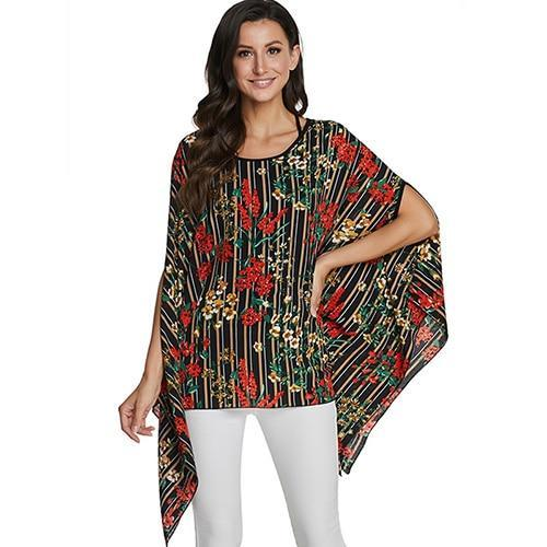 2020 Casual Chiffon Blouses Shirt Kimonos & Summer Tops Tops picture color 15 4XL