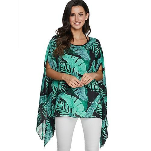2020 Casual Chiffon Blouses Shirt Kimonos & Summer Tops Tops picture color 19 4XL