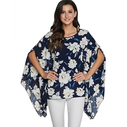 2020 Casual Chiffon Blouses Shirt Kimonos & Summer Tops Tops picture color 20 4XL