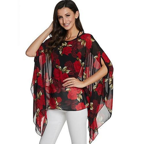 2020 Casual Chiffon Blouses Shirt Kimonos & Summer Tops Tops picture color 24 4XL