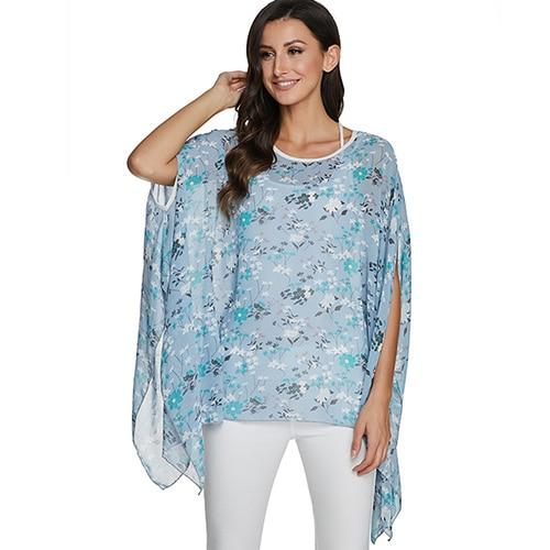 2020 Casual Chiffon Blouses Shirt Kimonos & Summer Tops Tops picture color 4XL