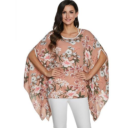 2020 Casual Chiffon Blouses Shirt Kimonos & Summer Tops Tops picture color 6 4XL