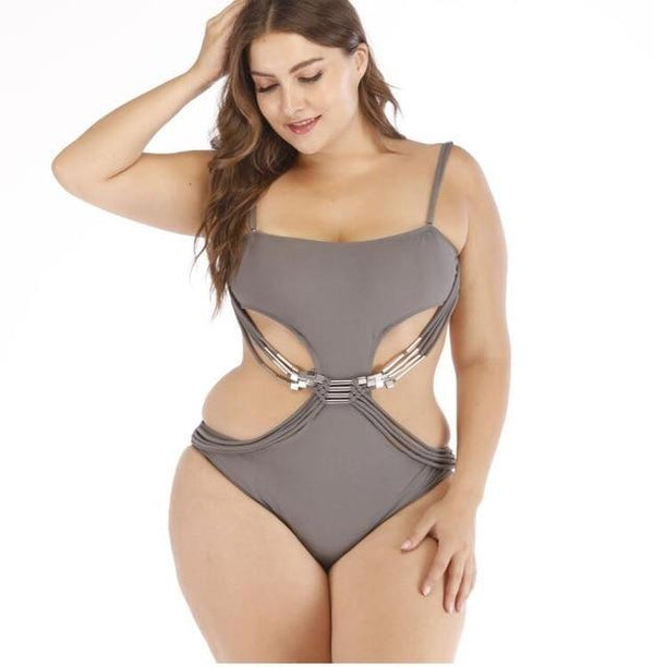 2020 Designer Swimsuit One Piece Plus Size Swimwear swimwear beige L