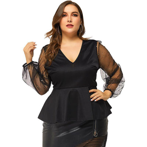 2020 spring autumn plus size Blouse Tops