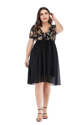 2020 Spring Plus Size Party Tulle Dresses 5XL dress Black XL
