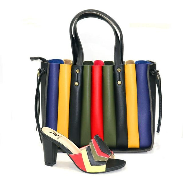 2021 Italian Designer Multicolor Color Classic Shoe and Bag Set shoes Assorted 38