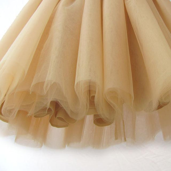 5XL Vintage Tulle Midi Pleated Skirts All Colors skirts 06 5XL