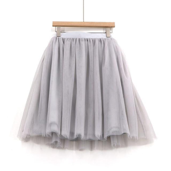 5XL Vintage Tulle Midi Pleated Skirts All Colors skirts 69 5XL