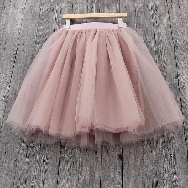 5XL Vintage Tulle Midi Pleated Skirts All Colors skirts 70 5XL