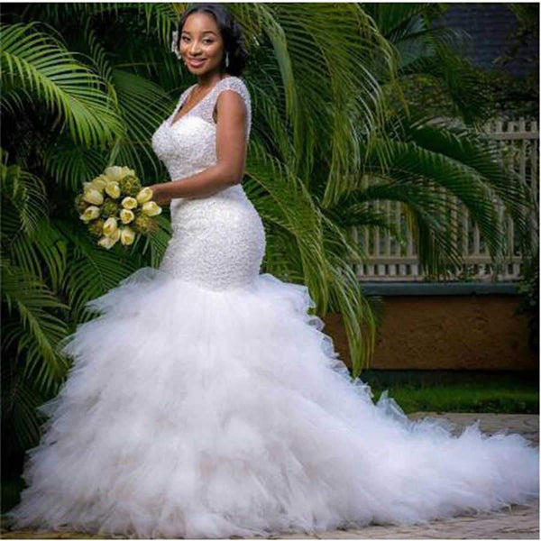 African Style Mermaid Wedding Dress wedding dress
