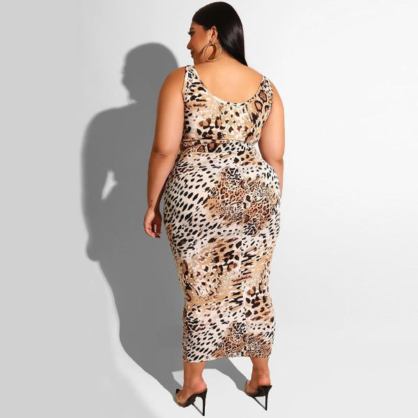 Animal Print 2 Piece Skirt and Top Skirt