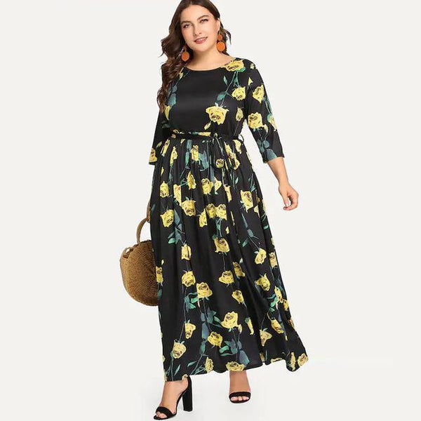 Ankle Length Long Dress dress Yellow L