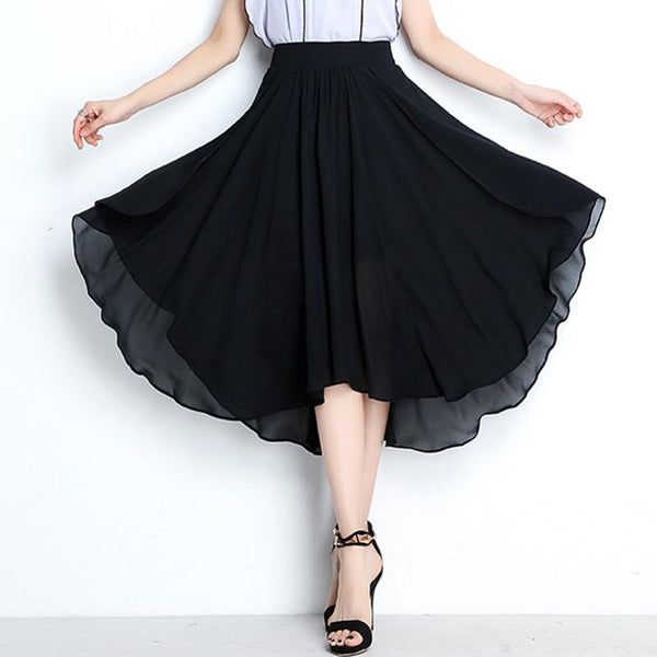 Asymmetrical Candy Chiffon Party Skirt Skirt