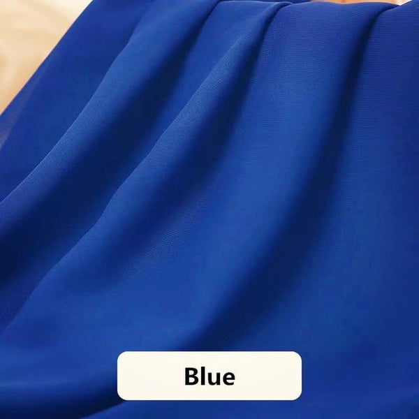 Asymmetrical Candy Chiffon Party Skirt Skirt Blue XXXL