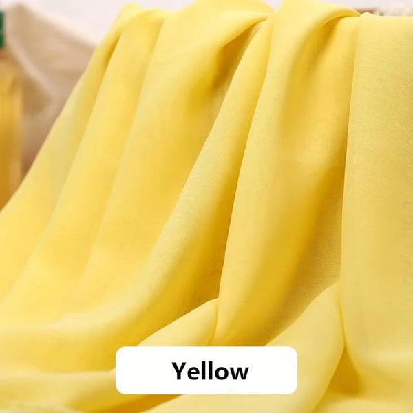 Asymmetrical Candy Chiffon Party Skirt Skirt Yellow 4XL