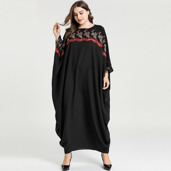 Bat Sleeved Embroidery Casual Dress dress