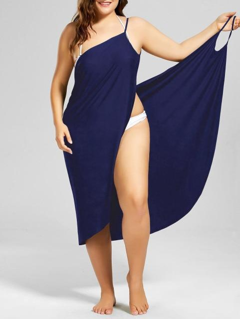Beach Cover Up Wrap Pareo bikini Royal blue S