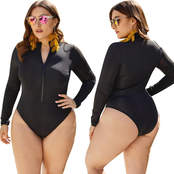 Beach Sport Bathing Suit w/Sleeves Swimsuit
