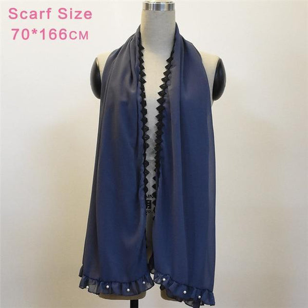 Beading Lace Patchwork Loose Dress dress scarf One Size
