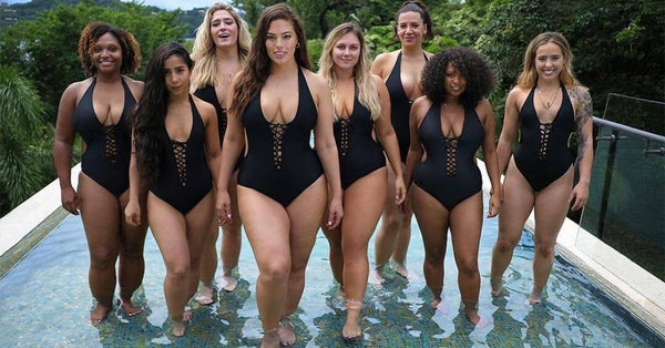 Black / White Plus Size One Piece Swimwear Bathing Suits swimwear