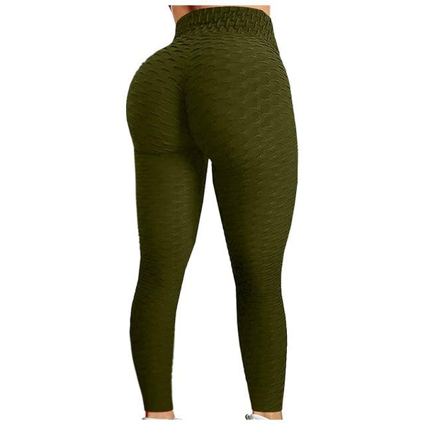 Booty Leggings Workout Running Butt Lift Tights Army Green leggings Army Green XXL
