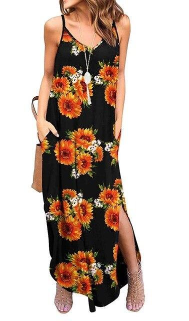 Casual Summer Loose Beach Dress dress Multi S