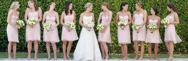 Champagne Sexy Sheer Sweetheart Mermaid Bridesmaid Dresses bridesmaid