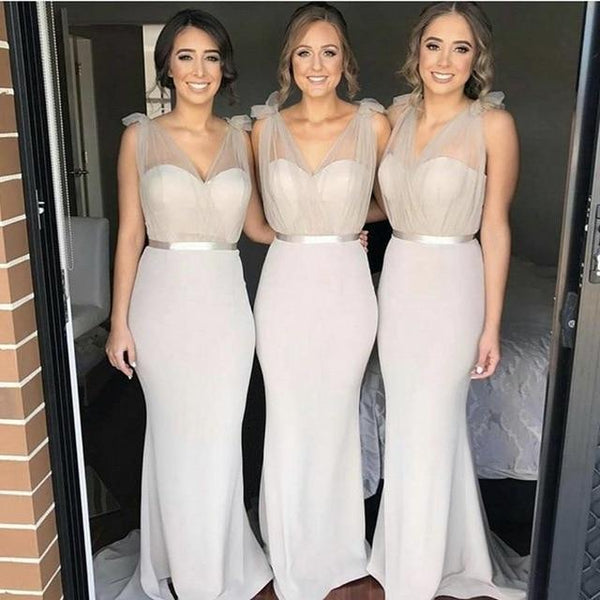Champagne Sexy Sheer Sweetheart Mermaid Bridesmaid Dresses bridesmaid Champagne 4