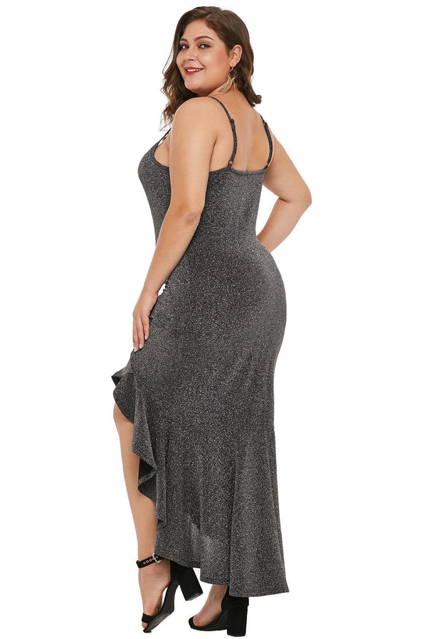 Charcoal True Shine Plus Size High-low Dress dress
