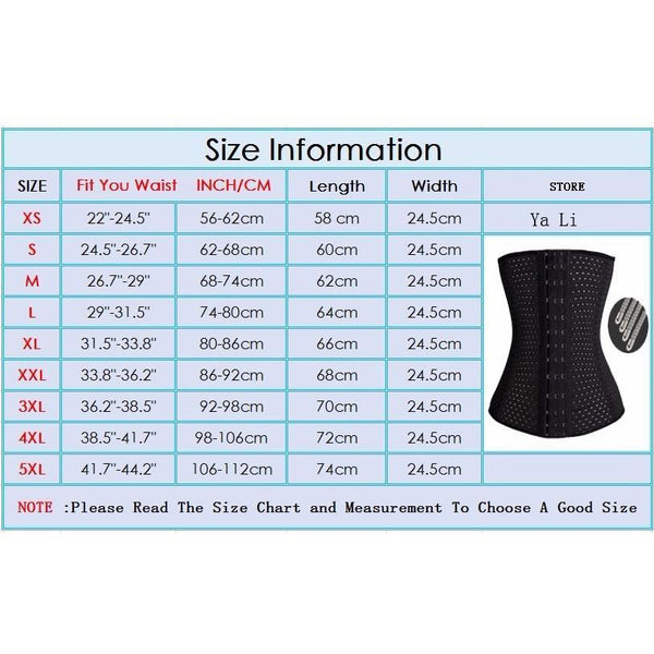 Corset Waist Trainer Slimming Sheath Cincher Waist Shaper underwear